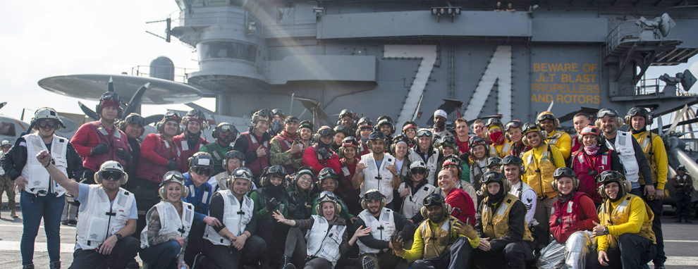 USS John C. Stennis Celebrates the Holidays with USO