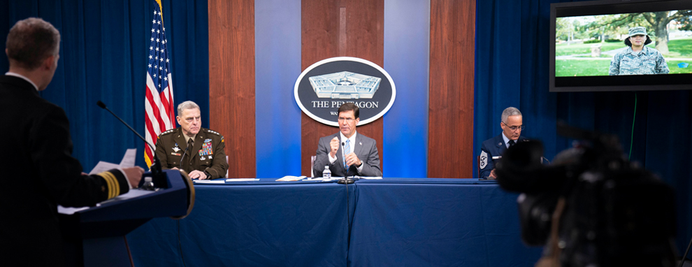 Defense Department leaders host a virtual town hall