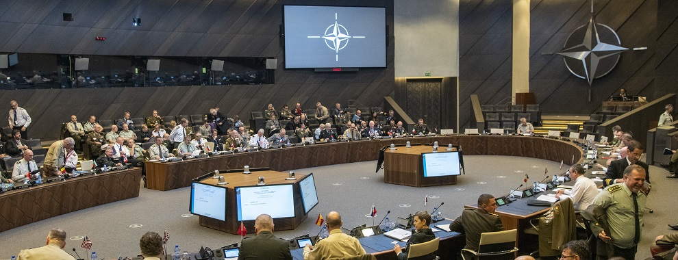 Marine Corps Gen. Joe Dunford, the chairman of the Joint Chiefs of Staff, attends the North Atlantic Treaty Organization (NATO) Military Committee in Chiefs of Defense Session (MC/CS) in Brussels, Belgium, Jan. 15, 2019. (DOD photo by Navy Petty Officer 1st Class Dominique A. Pineiro)